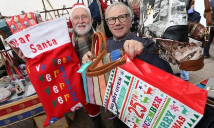 Final preparations are being made for this year's festive markets in Thirsk and Northallerton
