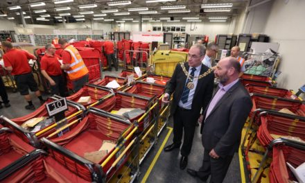 Festive visit to Royal Mail delivery office