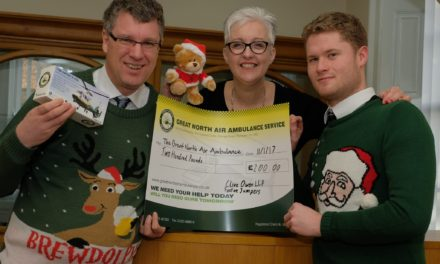 """Accountants pull the wool for air ambulance"""