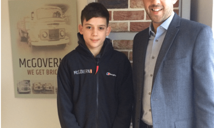Young apprentice lays foundations for future career with McGovern Bricks