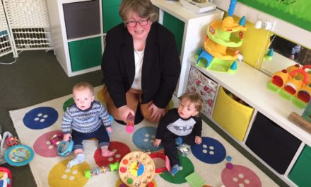 Dr Therese Coffey MP visited Northumberland childcare provider