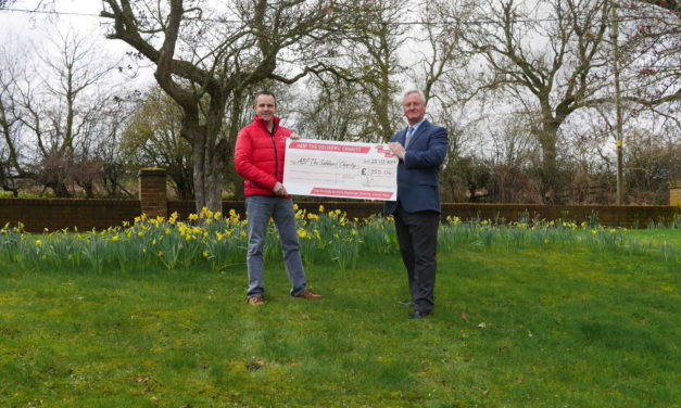 Finchale Presents Cheque to ABF The Soldiers' Charity