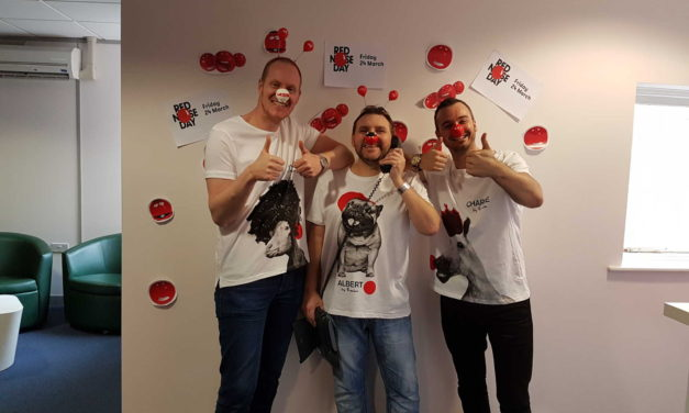 AXA Teesside and Police Interceptors star team up to raise money for Red Nose Day