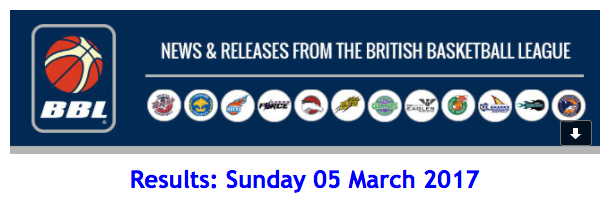 Results: Sunday 05 March 2017