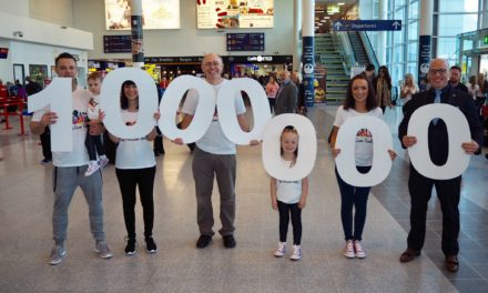Newcastle International: Airport welcomes one millionth passenger in 2017