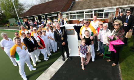 Mayor Opens All-Weather Bowling Green in Billingham