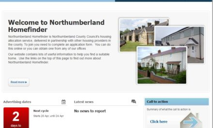 New look website will help people seeking a home in Northumberland