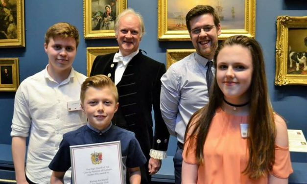 High Sheriff award for Bishop Auckland Table Tennis Club.