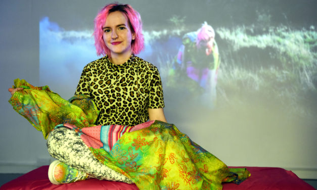 Celebration of artistic work by Teesside University students