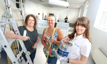Arts group breathes colour into old church with help from local business