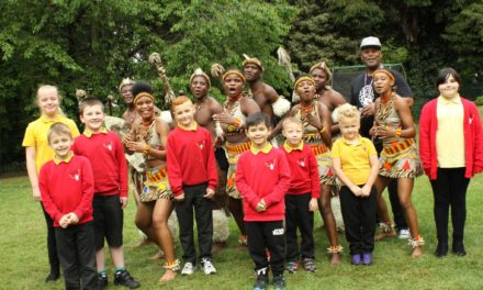Zulus inspire children with African performance