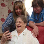 Care home residents use digital technology to stay connected