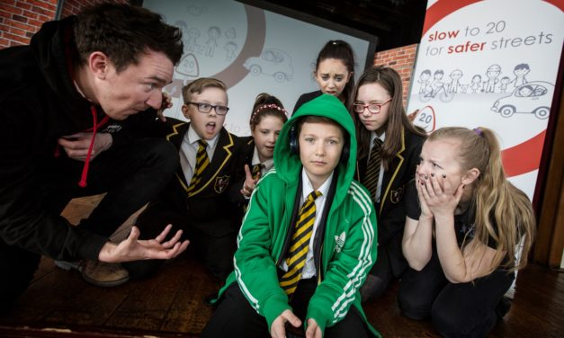 Pupils pitch their road safety film ideas