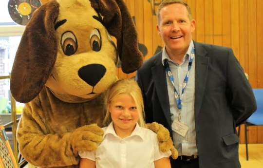 Pupils use 'art of persuasion' to promote dog-free playtime
