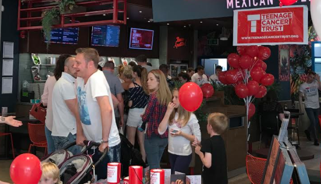 Barburrito at intu Metrocentre raises over £1,700 for Teenage Cancer Trust