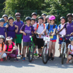Pupils end their primary school days with marathon cycle