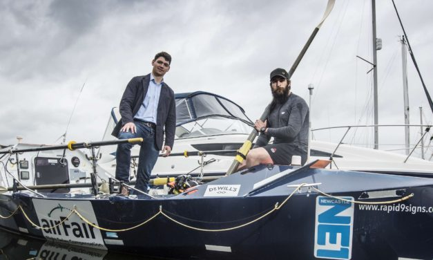 Former Royal Marine Reveals Boat which he will Solo Row across the Atlantic for Charity