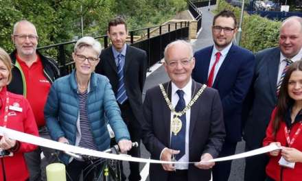 New pedestrian and cycle path at Durham station