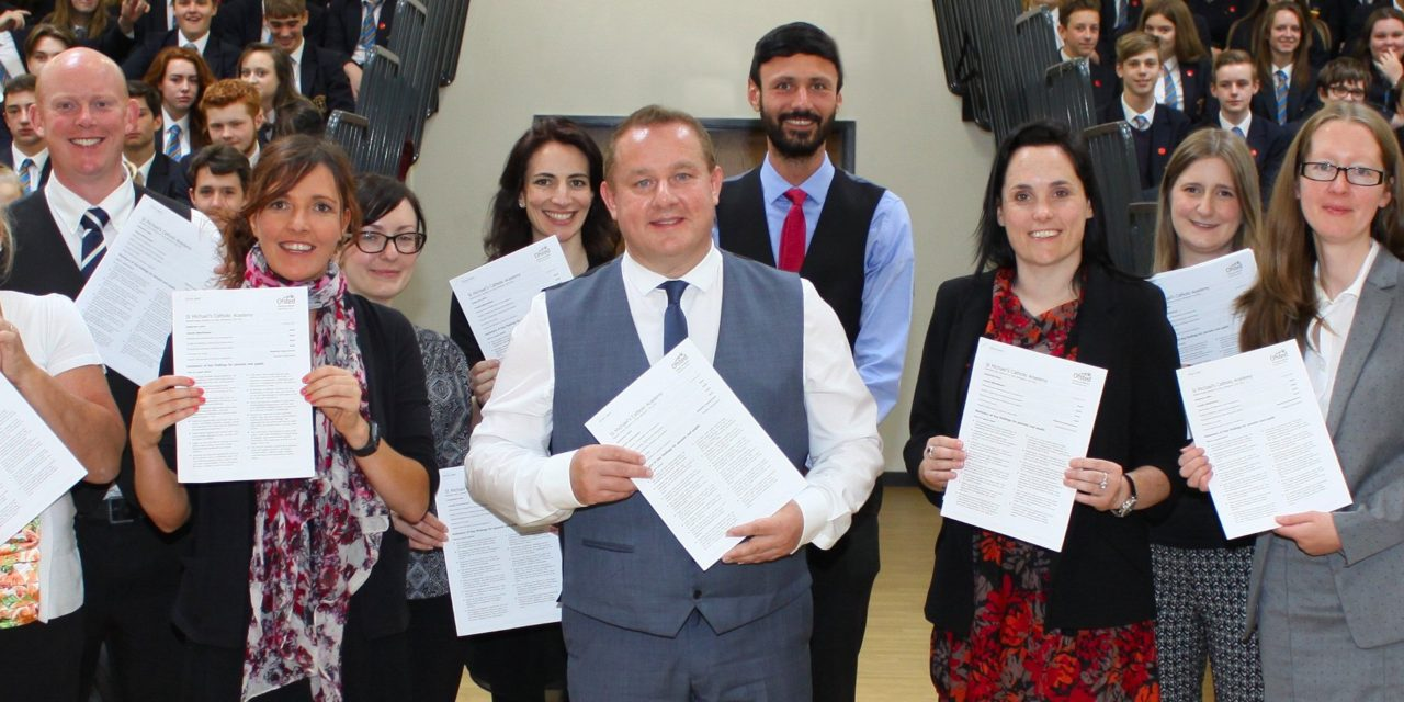 School celebrates after top inspection