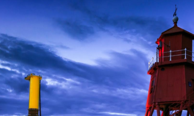 Blyth Offshore Demonstrator wind farm project: first gravity foundation lowered onto sea bed