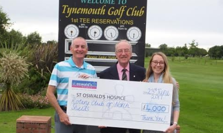 Hospice have fif-tee- thousand reasons to thank North Shields Rotary Club