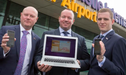 Technology company flying after airport win