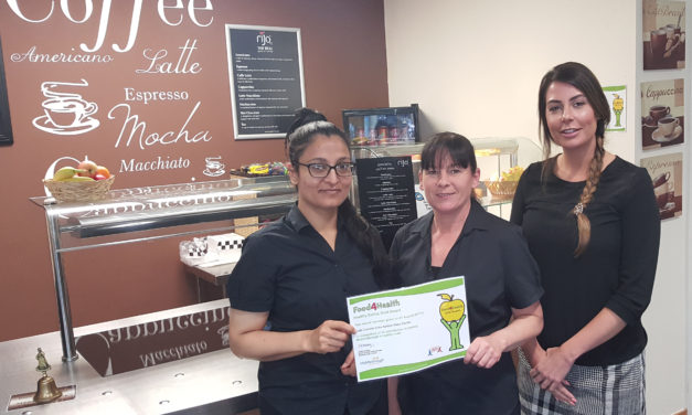 Café Connect goes for gold with healthy eating award