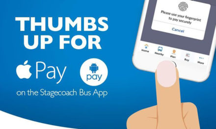 Apple Pay and Android Pay now available through Stagecoach Bus Smartphone App