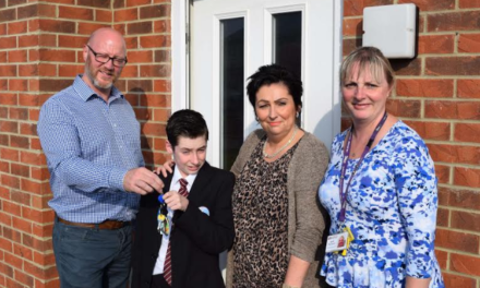 Family gets keys to new 'forever' home