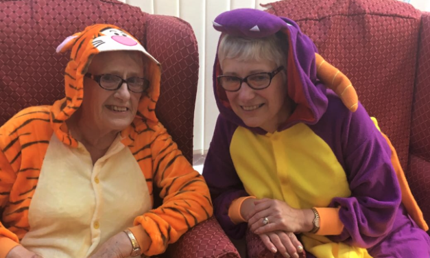 Pyjama party and pampering session at Teesside care home