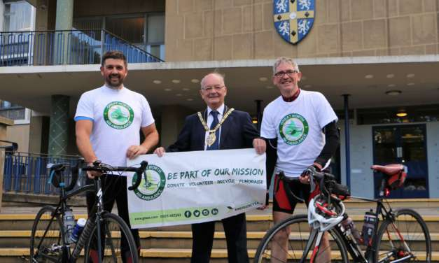 Peter tackles 100-mile charity ride following heart surgery