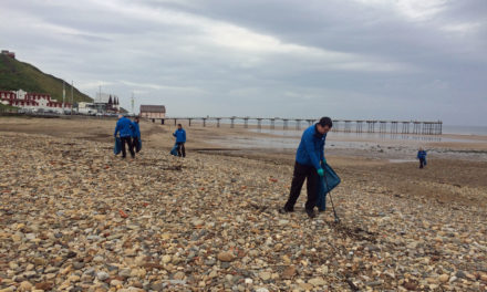 Water Company Team Shows its Love for Saltburn Beach