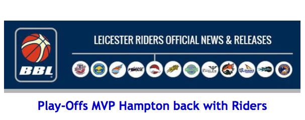 Play-Offs MVP Hampton back with Riders