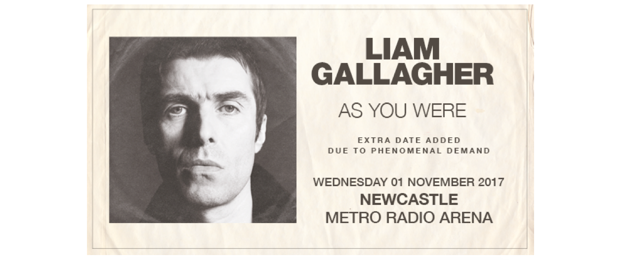 Liam Gallagher Announces Newcastle Date