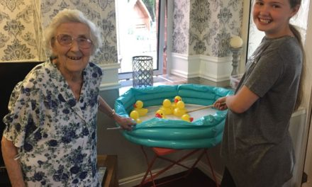 Old fashioned fun for family day at Ingleby Care Home