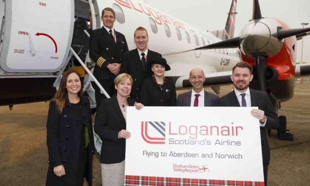 AIRPORT WELCOMES NEW PARTNERSHIP AS LOGANAIR FLIGHTS TAKE OFF