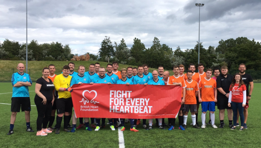 Sunderland Staff show Support for Cardiac Arrest Colleague by Raising £6,000 for The British Heart Foundation