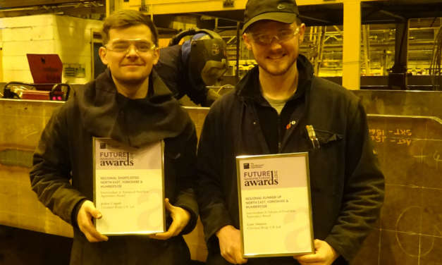 Cleveland Bridge apprentices reach final of prestigious manufacturing awards