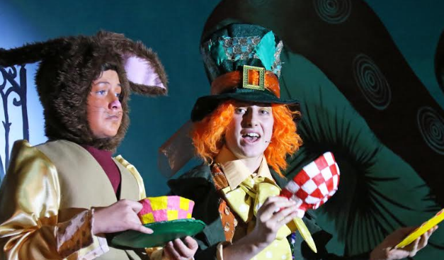 Students perform Alice in Wonderland