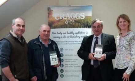 NFU President visits Craggs & Co, East Close Farm, Sedgefield