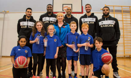 Powered by Water Flies High with Newcastle Eagles