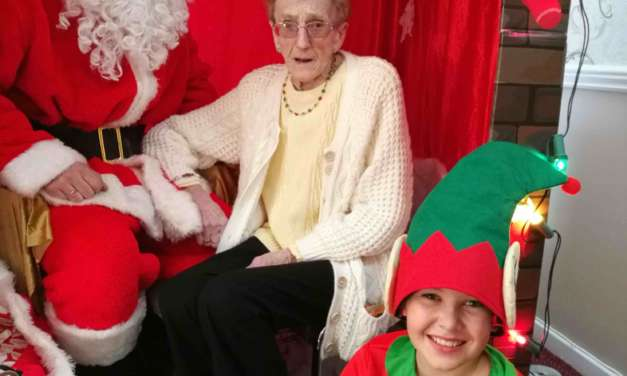 Santa helps raise over £1,000 for elderly Pelton residents