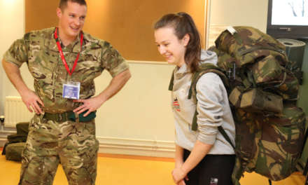 Students get ready for military life at academy's new cadet unit taster day