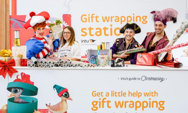 Mrs Smee hooks in pirates to support charity gift wrap at intu Eldon Square