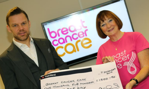 Tees firm raises £1,500 during Breast Cancer awareness month