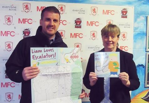 Middlesbrough Football Club, Pickerings Lifts and LEIA help promote escalator safety