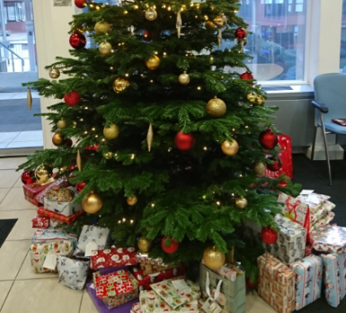 Happy Christmas for Local Children and Homeless People from The Wilton Centre