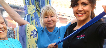 Care home keep fit with innovative exercise class