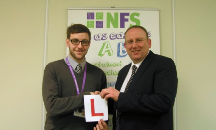 LOCAL APPRENTICE WINS DRIVING PACKAGE IN RECOGNITION OF HIS WORK