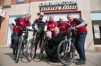 Building Society Supports Charity Cyclists